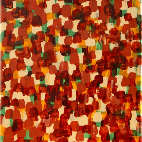 """BUT FOR THEIR VOICES Acrylic on Linen 12"""" x 9"""" $1200.00"""