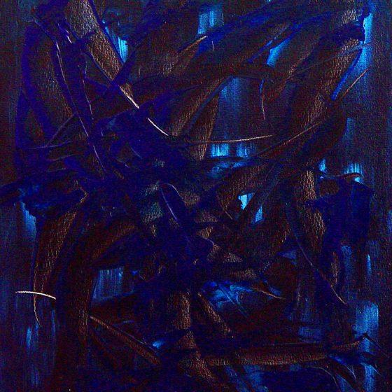 Expectations (Blue) 18″ x 24″ Oil on Canvas