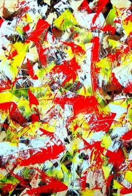 Transitions with Yellow, Brown and Red 30″ x 40″ Oil on Canvas