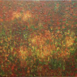 """Green Shadows, Dances Acrylic on Canvas 18"""" x 18"""" $2200.00"""