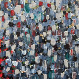 """Noiseless They Go Acrylic on Canvas Panel 16"""" x 20"""""""