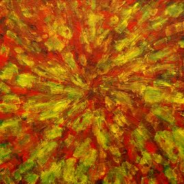 "Once Dreamed Dreams Acrylic on Canvas 12"" x 12"" $1500.00"