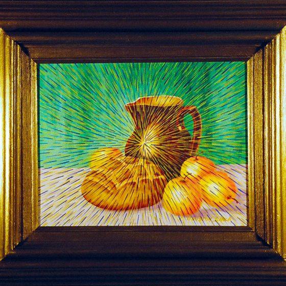 Radiant Landscape 15 11″ x 14″ Oil on Found Framed Painting