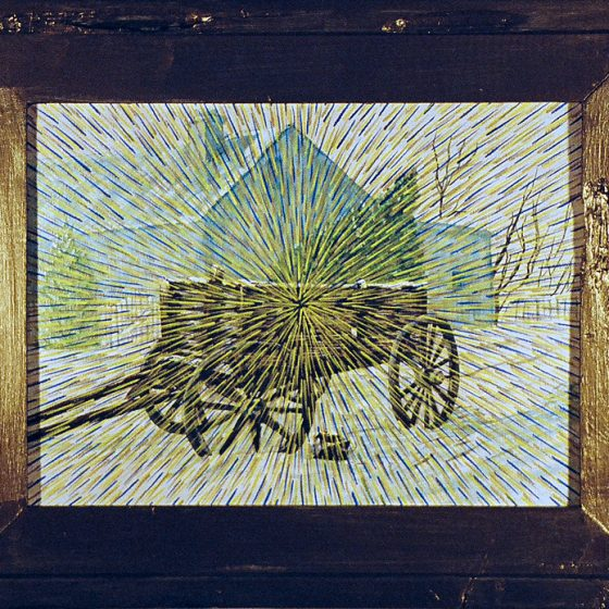 Radiant Landscape 18 16″ x 12″ Oil on Found Framed Painting