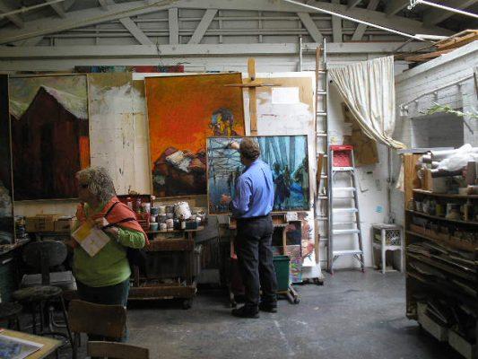 Chris Hero at work in his studio.