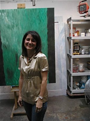My friend and collector of my work, Lisa.
